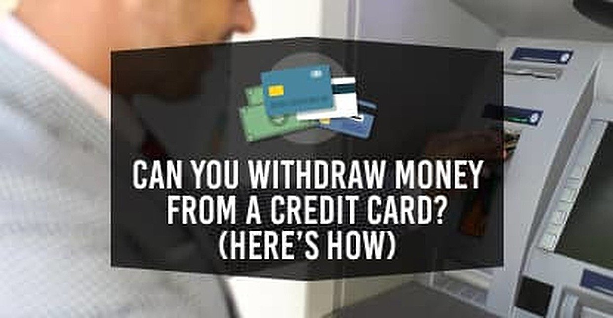 Can You Withdraw Money From A Credit Card Here S How Cardrates Com