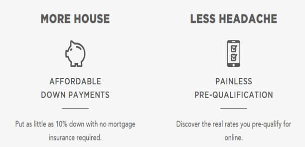 Screenshot of SoFi.com's mortgage offerings.