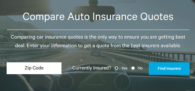Screenshot of ValuePenguin Compare Auto Insurance Tool