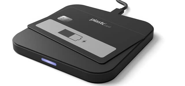 Image of Plastc Card on wireless charging pad