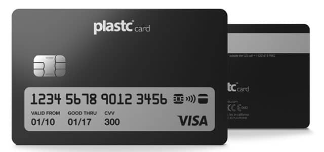 Image of Plastc Card front and back
