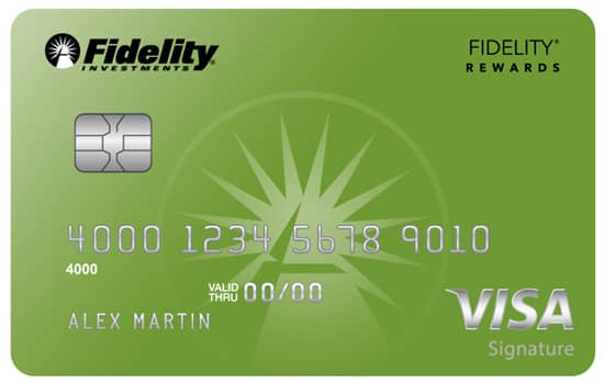 Image of the Fidelity Rewards Visa Signature Card.