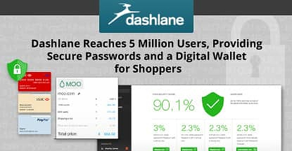 Dashlane Reaches 5 Million Users, Providing Secure Passwords and a Digital Wallet for Shoppers