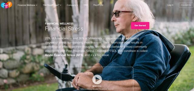 A screenshot of Payoff's Financial Wellness page