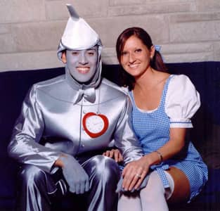Jeff with his future wife at a Halloween party