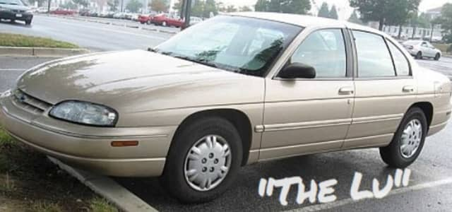 Jeff's grandmother's car, a 1998 Chevy Lumina