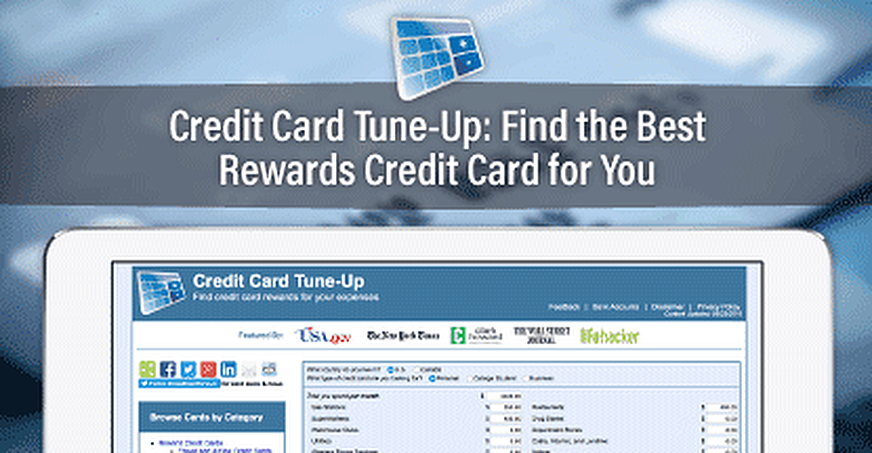 Credit Card Tune-Up: A Web-Based Decision-Making Tool That Finds the Best Rewards Credit Card for You