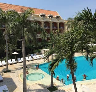 The view from Hotel Santa Clara's superior king room