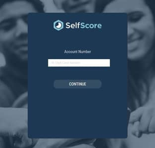 SelfScore's account login page