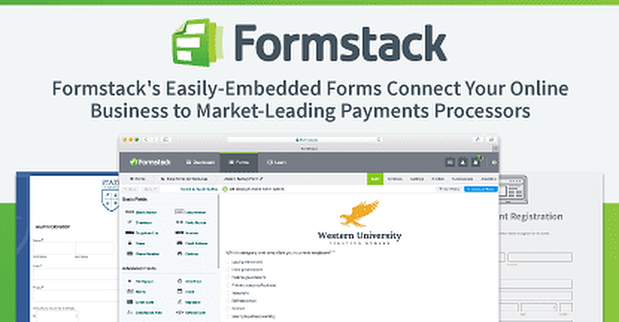 Formstack's Easily-Embedded Forms Connect Your Online Business to Market-Leading Payments Processors