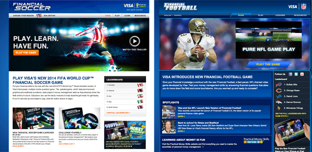Collage of screenshots for Financial Soccer and Financial Football
