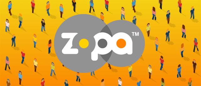 Illustration using the Zopa logo