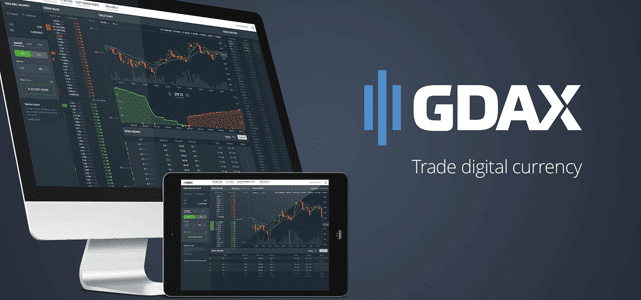 Graphic for GDAX Coinbase Digital Currency Trading Platform
