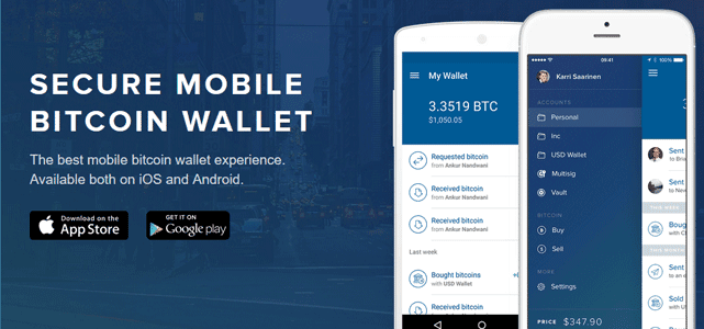 Graphic for Coinbase Mobile Application