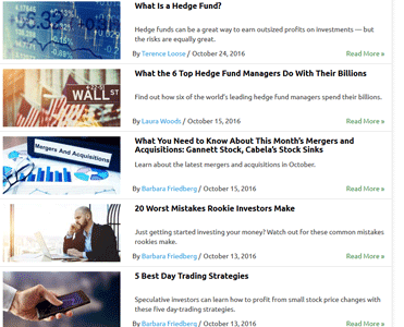 Screenshot of GOBankingRates Investing Articles