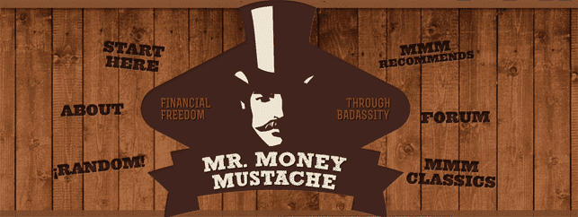 Screenshot of Mr. Money Mustache homepage