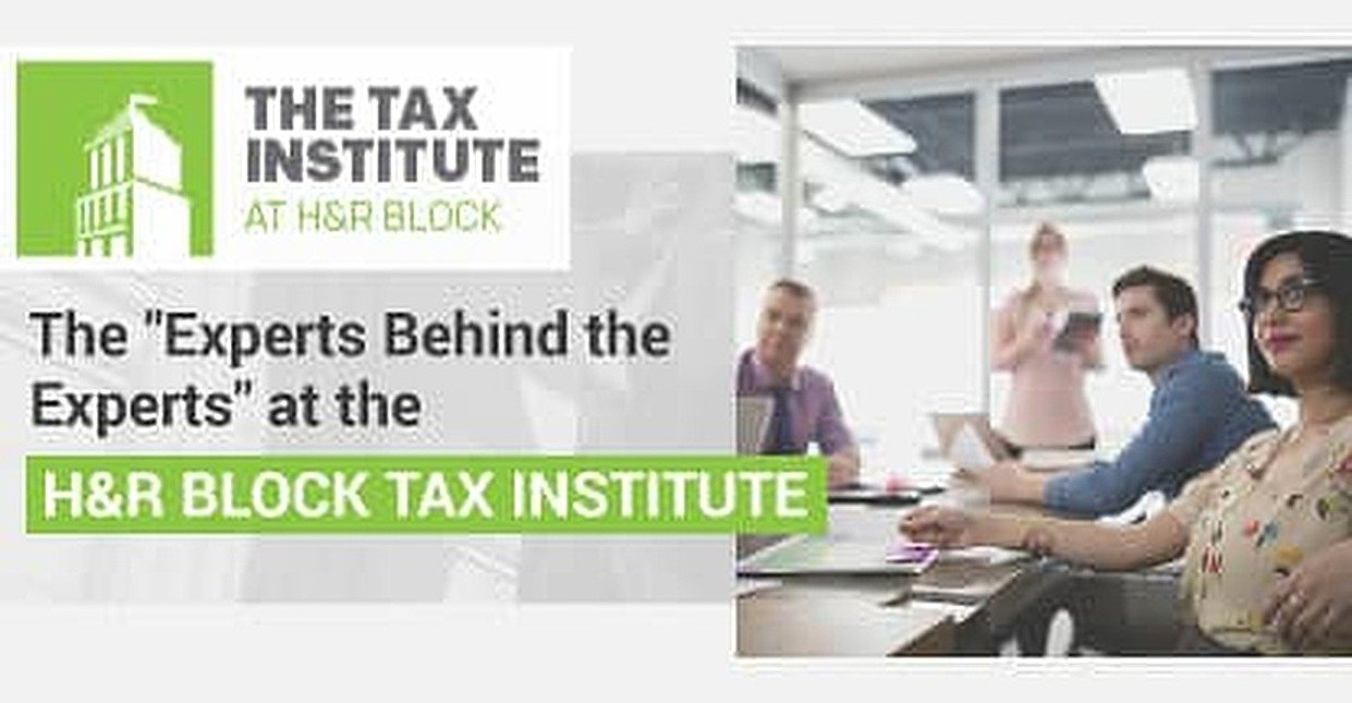 "How The ""Experts Behind the Experts"" at the H&R Block Tax Institute Support the World's Largest Consumer Tax Services Provider"