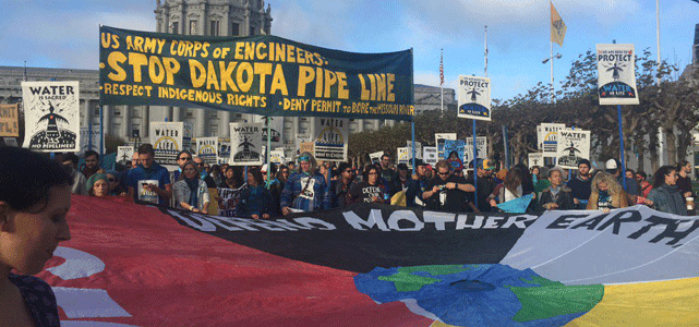 Photo of People at November 15 Protest Against Dakota Pipeline