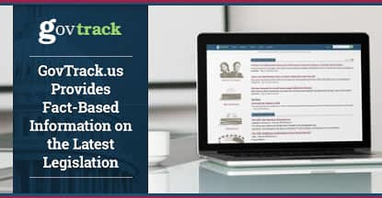 GovTrack.us Provides Fact-Based Information on the Latest Legislation That's Free from Outside Financial Influence
