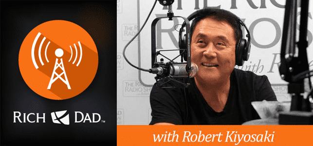 The Rich Dad Radio Show logo and photo of Robert Kiyosaki