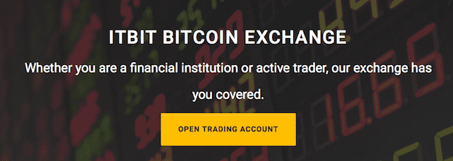 Screenshot of itBit Bitcoin Exchange