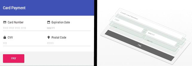 Screenshot of Braintree checkouts