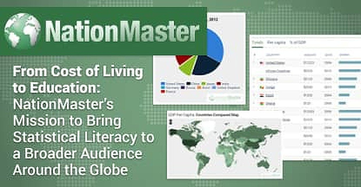From Cost of Living to Education: NationMaster's Mission to Bring Statistical Literacy to a Broader Audience Around the Globe