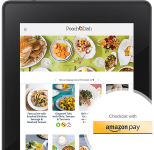 Screenshot of Amazon Pay Merchant Peach Dish
