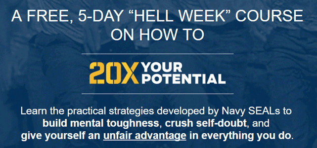 Screenshot from the 20X Your Potential page