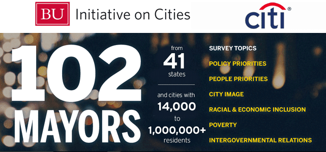 Screenshot of the Menino Survey of Mayors homepage