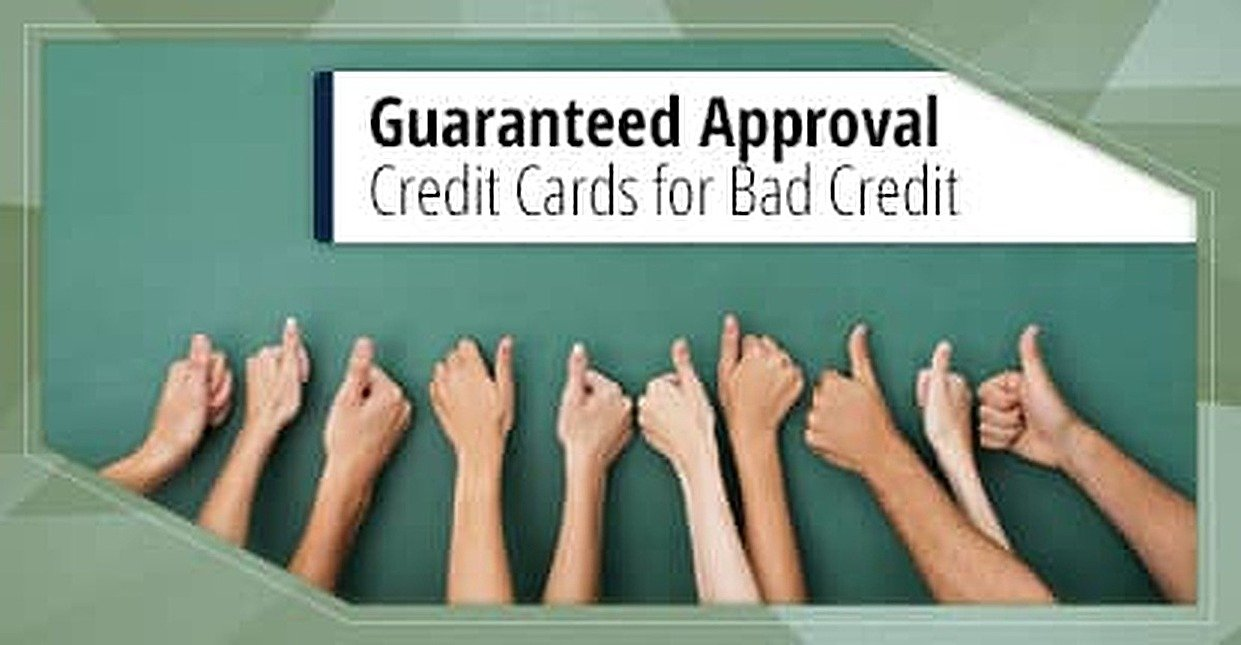 9 Guaranteed Approval Credit Cards for Bad Credit (2017)