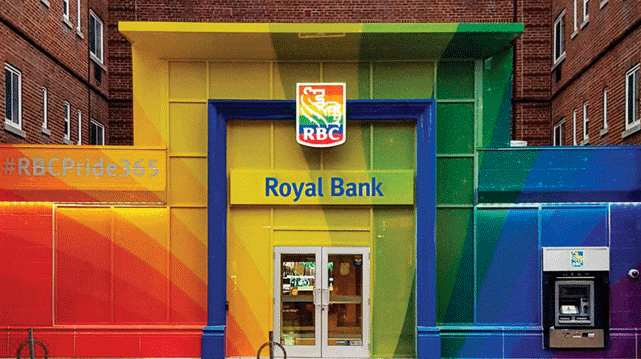 RBC Branch Showing LGBT Support