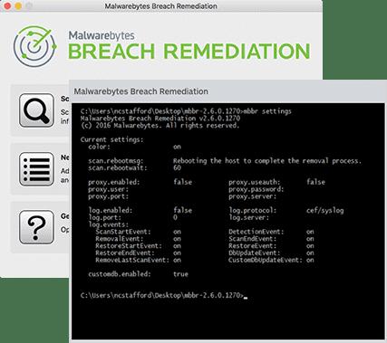 Screenshot of Malwarebytes Breach Remediation