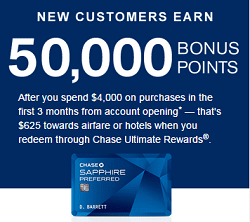 Image of Chase Sapphire Preferred Signup Bonus