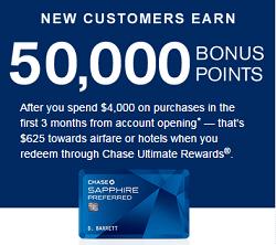 Image of Chase Sapphire Preferred Signup Bonus