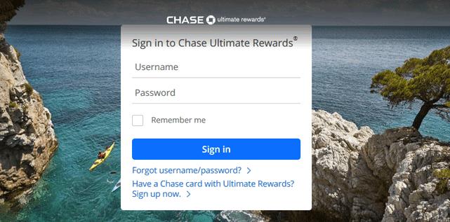 Screenshot of Chase Ultimate Rewards Portal