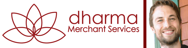 Collage of the Dharma Merchant Services logo and a portrait of COO Nick Bencivenga