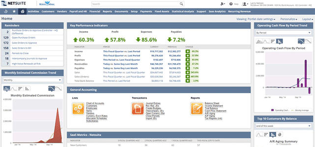 Screenshot of NetSuite Financial & Accounting Software
