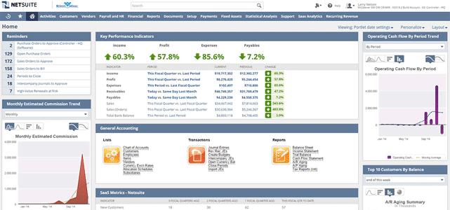 Screenshot of NetSuite Financial & Accounting Software