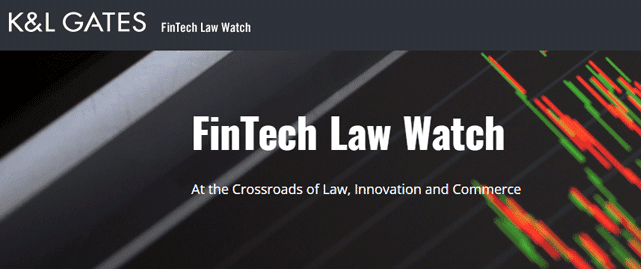 Screenshot of the FinTech Law Watch blog