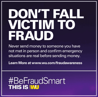 Screenshot from Western Union Fraud Pamphlet