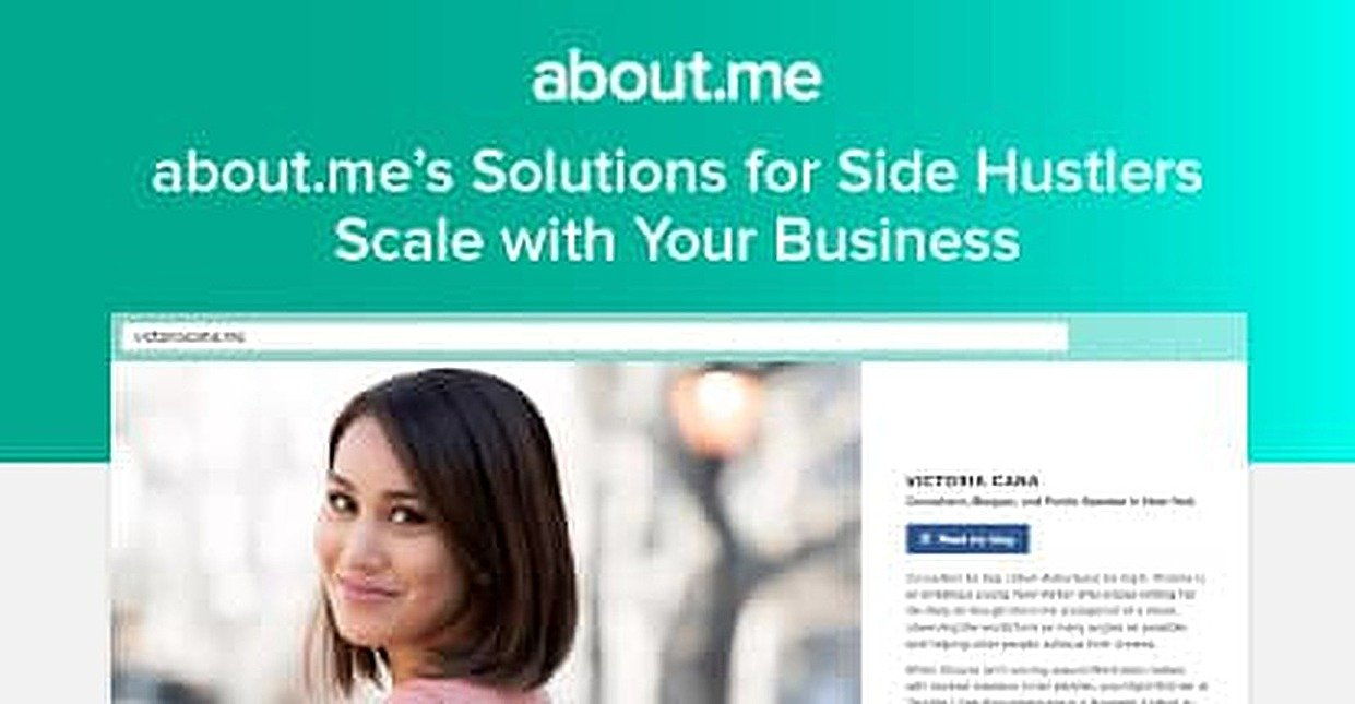 Build Your Brand & Promote Your Passion: about.me Offers Marketing Solutions for Side Hustlers that Scale with Growing Demand