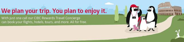 Screenshot of CIBC Travel Concierge Page
