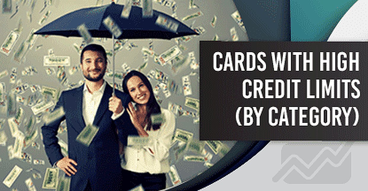 "12 Highest ""Credit Card Credit Limits"" By Category"
