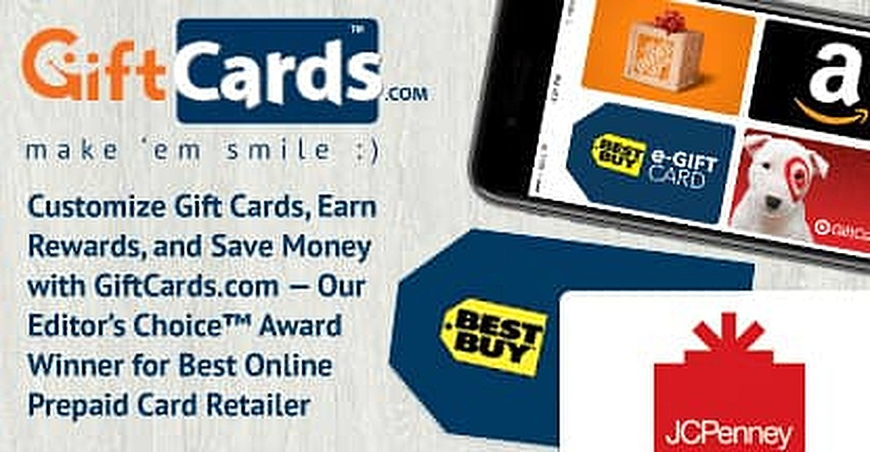customize gift cards earn rewards and save money with giftcardscom our - Prepaid Rewards Card
