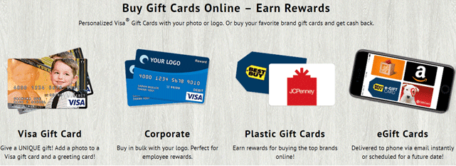 Screenshot from the GiftCards.com homepage