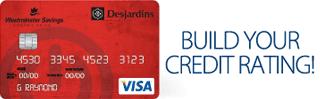 Screenshot of the Visa Desjardins Student credit card