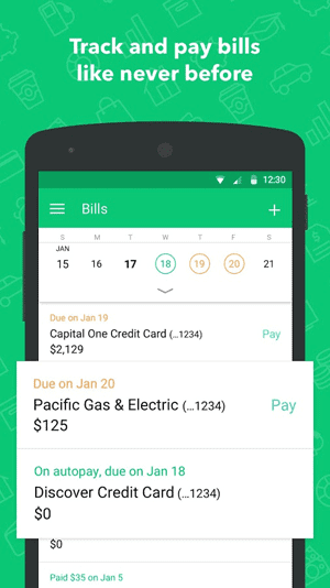 Screenshot of Mint Mobile App