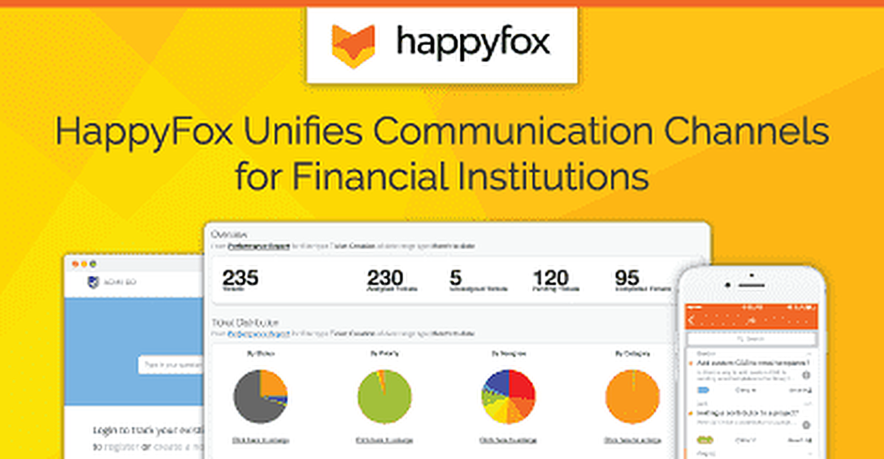 HappyFox Helps Financial Institutions Improve Customer Satisfaction by Integrating & Unifying Communication Channels
