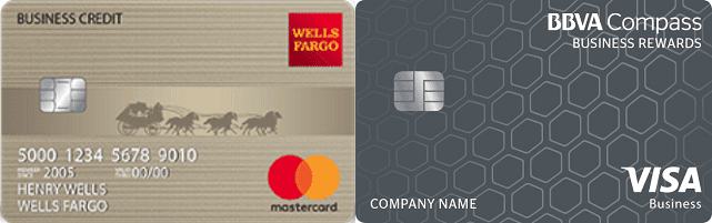 Images of BBVA Business Secured Visa® & Wells Fargo Business Secured Cards